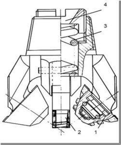 Горный инструмент для получения скважин квадратного поперечного сечения «Буровой инструмент Богомолова»