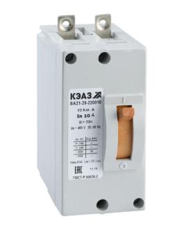 100958 КЭАЗ ВА21 Автоматические выключатели в литом корпусе на токи от 0,6А до 100А