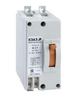 100964 КЭАЗ ВА21 Автоматические выключатели в литом корпусе на токи от 0,6А до 100А