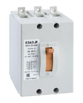 100968 КЭАЗ ВА21 Автоматические выключатели в литом корпусе на токи от 0,6А до 100А