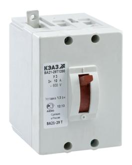100939 КЭАЗ ВА21 Автоматические выключатели в литом корпусе на токи от 0,6А до 100А