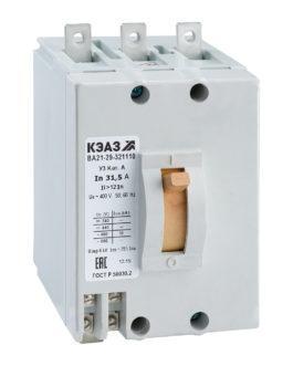 100963 КЭАЗ ВА21 Автоматические выключатели в литом корпусе на токи от 0,6А до 100А