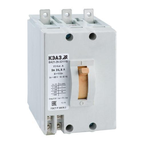 Выключатель автоматический ВА21-29-342810-10А-12Iн-400AC-НР400AC/DC-У3-КЭАЗ