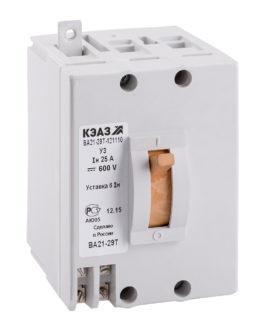 103310 КЭАЗ ВА21 Автоматические выключатели в литом корпусе на токи от 0,6А до 100А