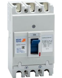 100000 Выключатель автоматический OptiMat E100L016-УХЛ3 КЭАЗ (KEAZ)