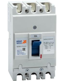 100001 Выключатель автоматический OptiMat E100L020-УХЛ3 КЭАЗ (KEAZ)