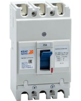 100002 Выключатель автоматический OptiMat E100L025-УХЛ3 КЭАЗ (KEAZ)