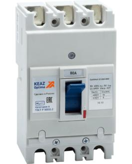 100007 Выключатель автоматический OptiMat E100L080-УХЛ3 КЭАЗ (KEAZ)
