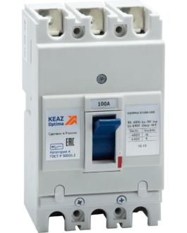 100008 Выключатель автоматический OptiMat E100L100-УХЛ3 КЭАЗ (KEAZ)