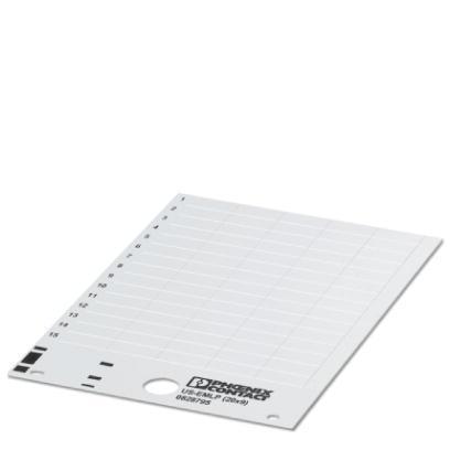 0804447 Пластиковая табличка US-EMLP (27X8) RD