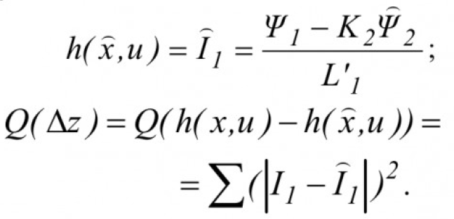Определение параметров и переменных состояния асинхронных электродвигателей в процессе их работы на основе поискового алгоритма оценивания 16