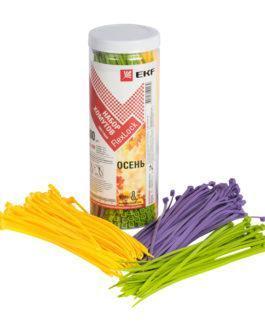 plc-fl-set-au EKF (ЕКФ) Набор хомутов цветных «Осень» (300 шт.): 3,6х200 FlexLock PROxima