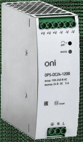 OPS-DC24-120B ONI Блок питания OPS 220В AC/24В DC 5А 120Вт ONI