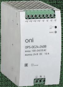 OPS-DC24-075B ONI Блок питания OPS 220В AC/24В DC 3,2А 75Вт ONI