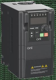 A150-33-15NT ONI Преобразователь частоты A150 380В 3Ф 1,5кВт 5А со встроенным тормозным модулем ONI