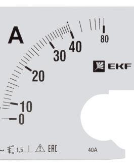 s-a961-40 EKF (ЕКФ) Шкала сменная для A961 40/5А-1,5 EKF PROxima
