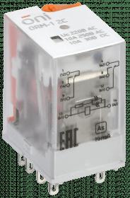 ORM-1-2C-AC220V-L-B ONI Реле интерфейсное ORM-1 2C 220В AC со светодиодом и тестовой кнопкой ONI
