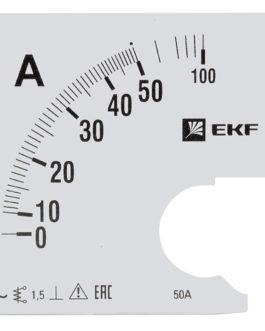 s-a961-50 EKF (ЕКФ) Шкала сменная для A961 50/5А-1,5 EKF PROxima