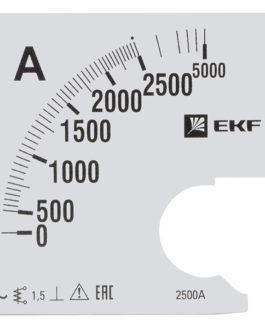 s-a961-2500 EKF (ЕКФ) Шкала сменная для A961 2500/5А-1,5 EKF PROxima