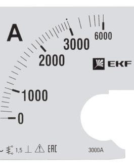 s-a961-3000 EKF (ЕКФ) Шкала сменная для A961 3000/5А-1,5 EKF PROxima