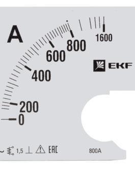 s-a961-800 EKF (ЕКФ) Шкала сменная для A961 800/5А-1,5 EKF PROxima