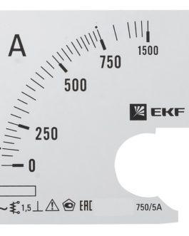 s-a961-750 EKF (ЕКФ) Шкала сменная для A961 750/5А-1,5 EKF PROxima