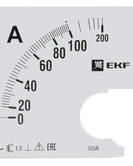 s-a961-100 EKF (ЕКФ) Шкала сменная для A961 100/5А-1,5 EKF PROxima