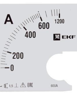 s-a961-600 EKF (ЕКФ) Шкала сменная для A961 600/5А-1,5 EKF PROxima