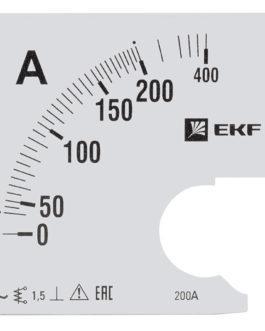 s-a961-200 EKF (ЕКФ) Шкала сменная для A961 200/5А-1,5 EKF PROxima