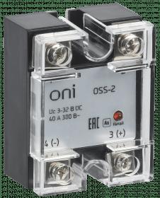 OSS-2-3-40-B ONI Реле твердотельное OSS-2 40А 380В AC 3-32В DC ONI