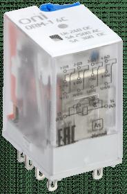 ORM-1-4C-DC24V-L-B ONI Реле интерфейсное ORM-1 4C 24В DC со светодиодом и тестовой кнопкой ONI