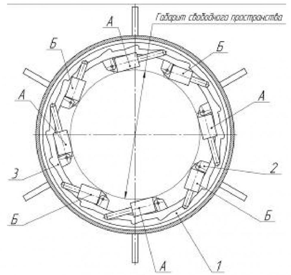 Рисунок 1 – Схема гидропривода геохода с гидроцилиндрами с непрерывным вращением