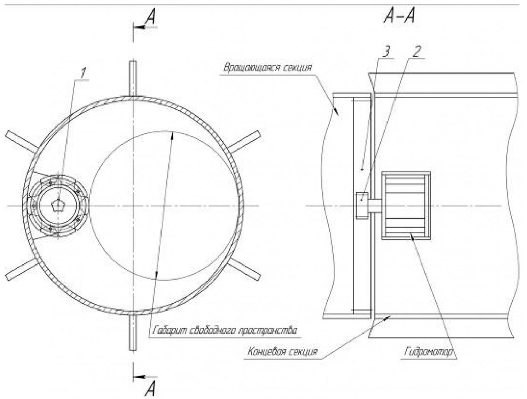Рисунок 3 – Схема гидропривода геохода с гидромотором