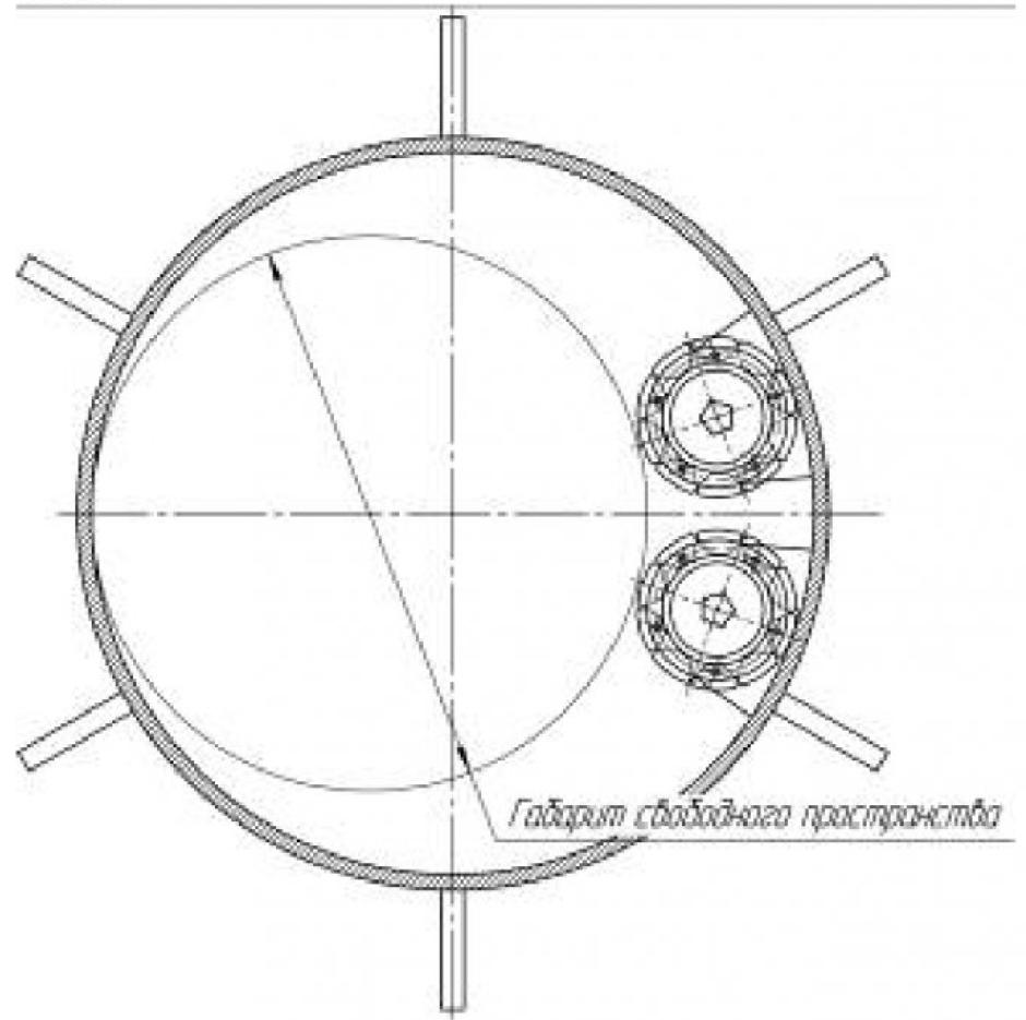 Рисунок 4 – Схема гидропривода геохода с двумя гидромоторами