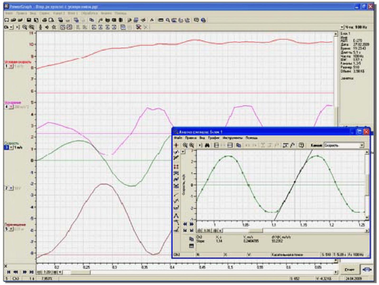 Разработка компьютерной системы регистрации данных экспериментальной кинематики 9