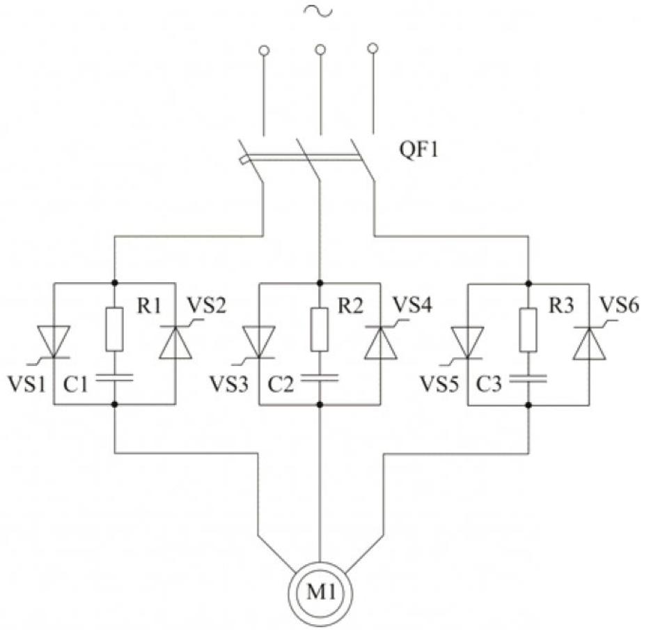 Рисунок 2 – Принципиальная электрическая схема силовой части УПП