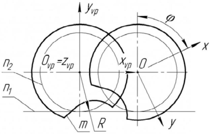 Рисунок 1 – Качение центроиды детали по начальной прямой инструментальной рейки