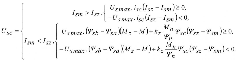 Вариант управления электромагнитным моментом, потоком и током асинхронного электродвигателя 2