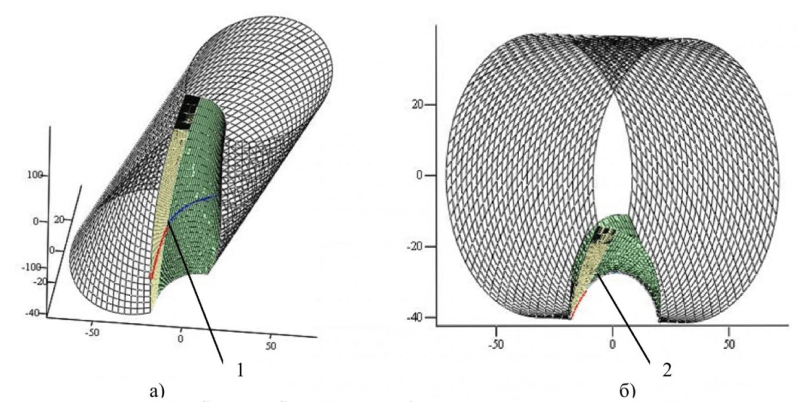 Рисунок 2 – Модели наклонной винтовой поверхности