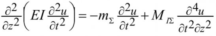 Об одной модели механических колебаний вентилятора главного проветривания 7
