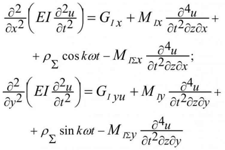 Об одной модели механических колебаний вентилятора главного проветривания 8