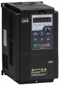 A650-33E022T ONI Преобразователь частоты A650 380В 3Ф 2,2кВт 5,5А со встроенным тормозным модулем ONI