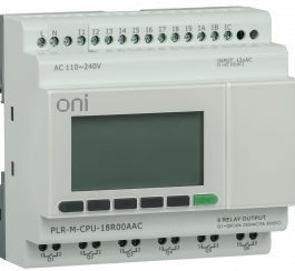 PLR-M-CPU-18R00AAC ONI Микро ПЛК PLR-M. CPU DI12/DO06(R) 220В AC ONI