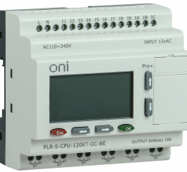 PLR-S-CPU-1206T-DC-BE ONI Логическое реле PLR-S. CPU1206(T) 24В DC с экраном ONI