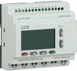 PLR-S-CPU-1004R-DC-BE ONI Логическое реле PLR-S. CPU1004(R) 24В DC с экраном ONI