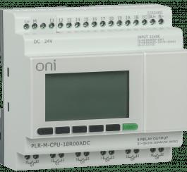 PLR-M-CPU-18R00ADC ONI Микро ПЛК PLR-M. CPU DI12/DO06(R) 24В DC ONI