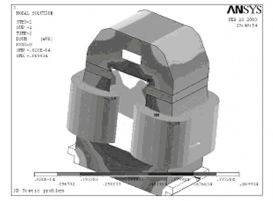 Модель электромагнита контактора серии КТУ-4Б 8